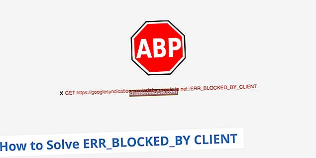 Remediere: această pagină web a fost blocată de o extensie (ERR_BLOCKED_BY_CLIENT)