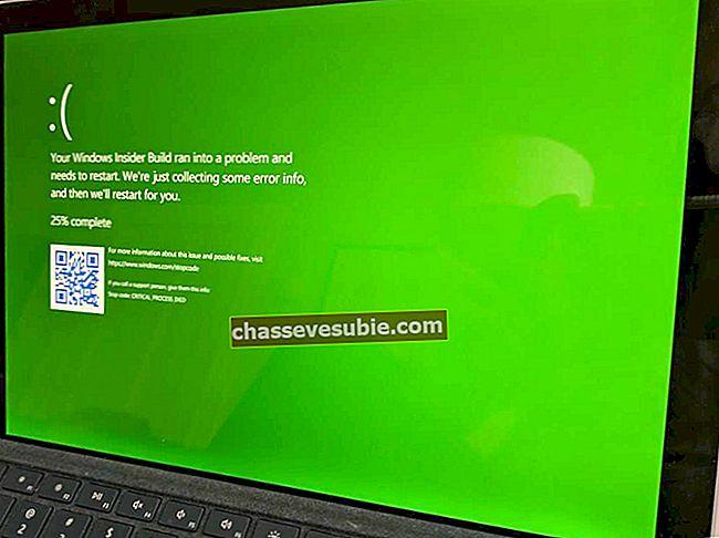 Der neueste Insider-Build kann auf Ihrem Windows 10-PC einen Green Screen of Death verursachen