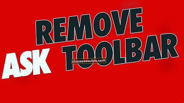 Correction: supprimer la barre d'outils Ask