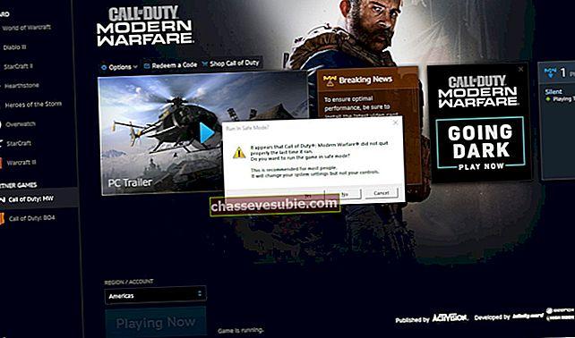 Lös COD Modern Warfare Error Code 262146