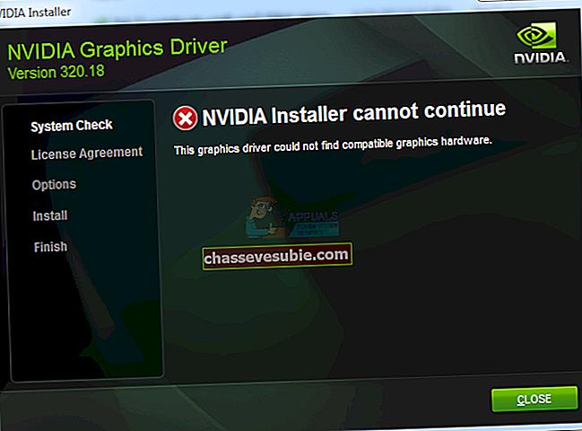 แก้ไข: โปรแกรมติดตั้ง NVIDIA Geforce Experience ล้มเหลว