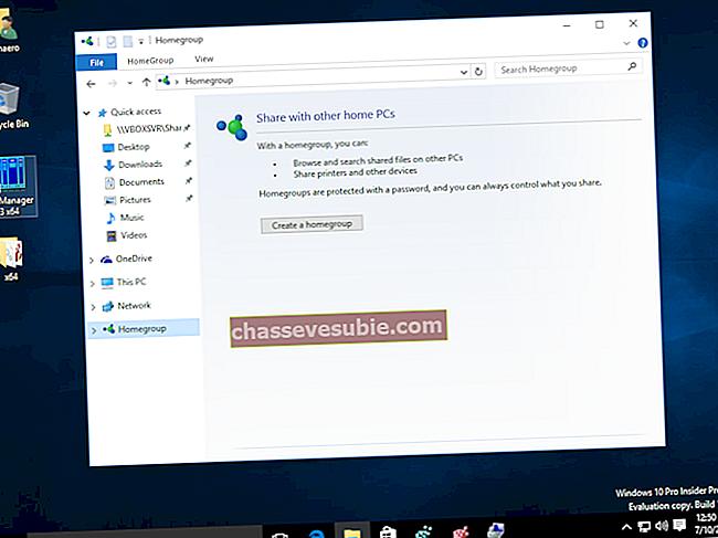 วิธีเพิ่ม / ลบไอคอน Home Group ใน Windows 10
