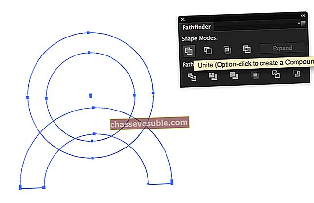 Cum să tăiați un cerc în diferite căi pe Illustrator