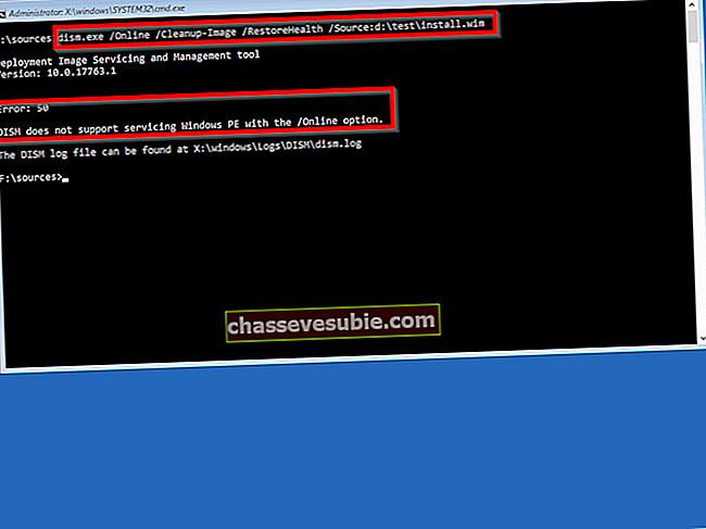 Remediere: Eroarea 50 DISM nu acceptă service Windows PE cu opțiunea / online